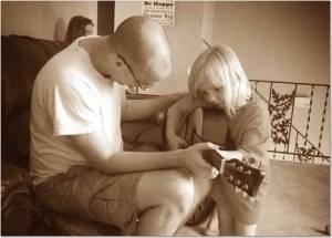 Sarah daddy guitar