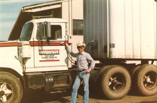 dad and truck