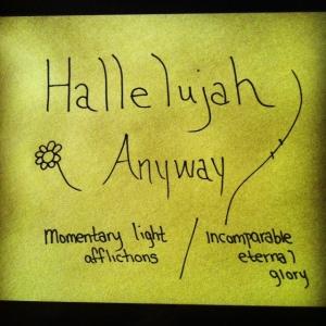 hallelujah anyway