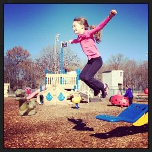 Emily flying